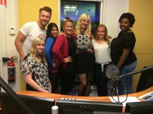 CATC met super chick Emmaly Brown van the voice of Holland en Robin Pors van de Venga Boys